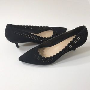 Isaac Mizrahi Live! Suede Pumps with Cutout detail